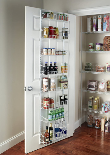Pantry Organizer Food Rack Adjustable Over the Door 8 Shelves Kitchen Storage