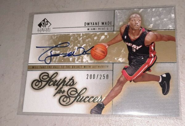 2003 04 SP Signature Edition Scripts For Success ROOKIE AUTO 200 250 Dwyane Wade $899.99