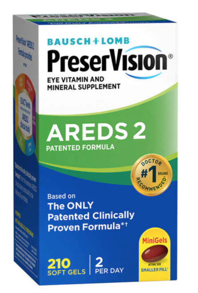 Bausch Lomb PreserVision AREDS 2 Formula 210 Soft Gels NEW SEALED BOX Exp 10 22