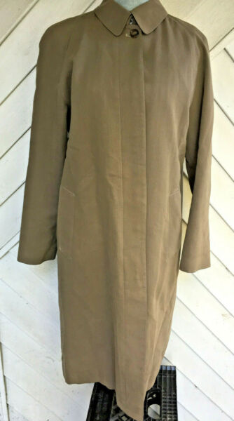 Burberry Trench Coat Womens Lined Single Breasted size 6R $124.99