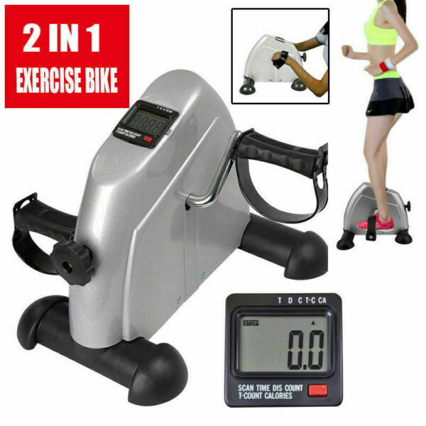 Portable LCD Fitness Pedal Stationary Indoor Exercise Bike Arms Legs LCD Display $39.99
