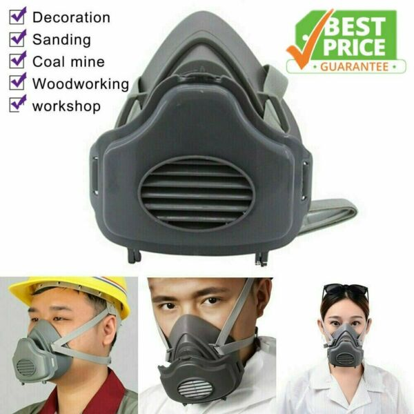 Safety Gas Mask Respirator Half Face Protect Painting Spray Facepiece w Filters $21.99