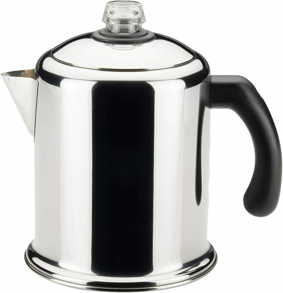 Heavy Duty Stove Top Percolator Yosemite Coffee Pot Maker 8 Cup Stainless Steel