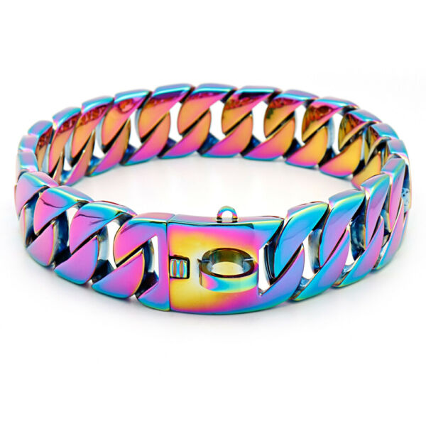 Stainless Steel Luxury Dog Collar Heavy Duty Big Dog Training Collar Show Choker $81.99