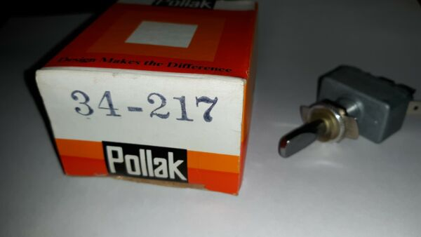 Pollak #34 217 On Off Chrome Blade Toggle Switch 2 Fused Terminals 30 AMP 12 V