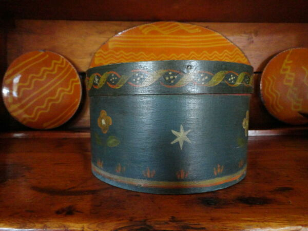 Antique Folk Art Painted Pantry Box