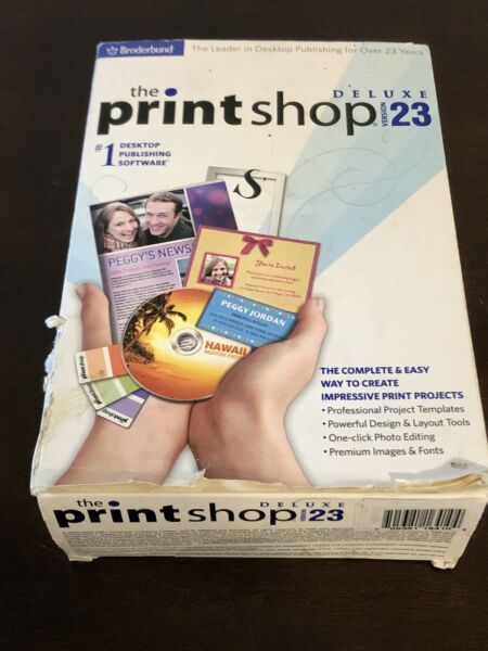 The Print Shop Deluxe Version 23 Software Sealed