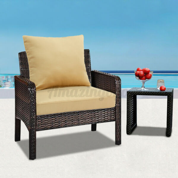 Romhouse 25quot; Patio Waterproof Deep Seating Cushion Set Solid High Rebound $58.55
