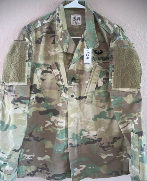 US Army OCP Scorpion Unisex Combat Shirt Small Regular Used 4 134