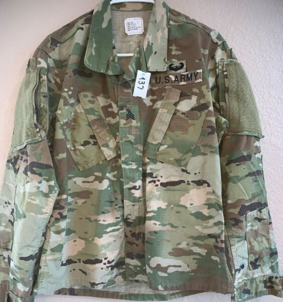 US Army OCP Scorpion Unisex Combat Shirt Small Short Used 4 137