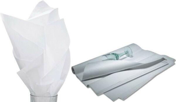 480 Sheets Solid White Tissue Paper Ream 20quot; x 30quot; 11 01 9M