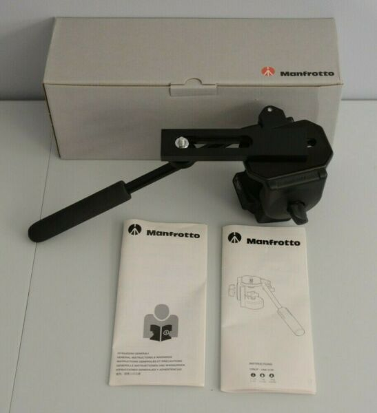 Manfrotto 128LP Mini Video Fluid Head Large PL Made in Italy w Box amp; Manuals
