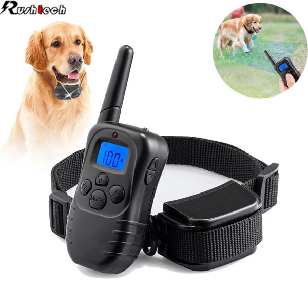 Pet Dog Shock Training Collar Rechargeable Remote Control Waterproof 330 Yards $25.95