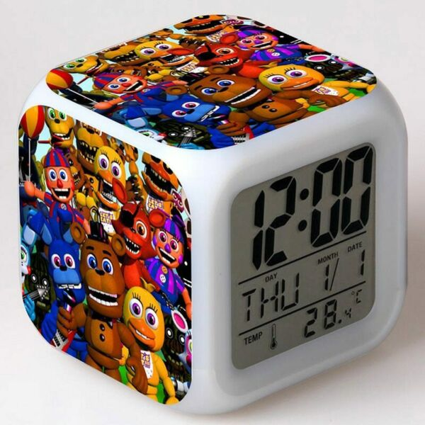 Gmaes Anime Figure Five Nights at Freddy#x27;s LED Alarm Clock Flashing Colorful Cub