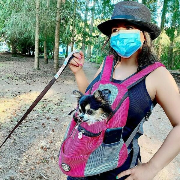 NEW Petyfy Dog Backpack Hot Pink Medium 7 23 lbs Comfy and safe dog carrier $27.00