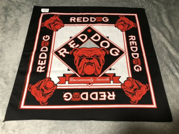 Vintage Red Dog Beer Rare Bandana New Old Stock Deadstock Made In USA