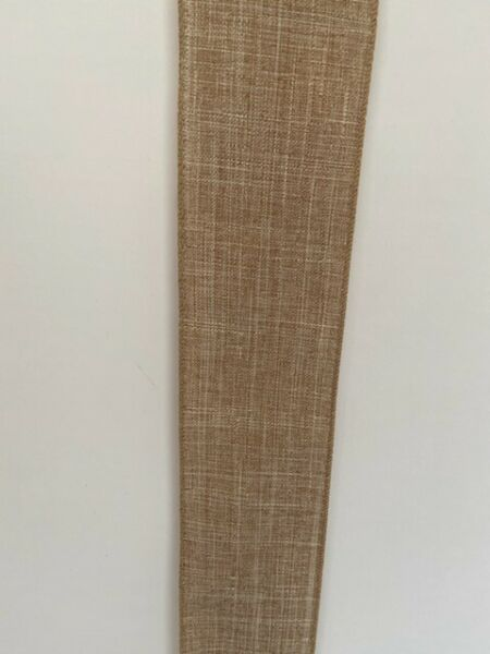 2.5quot; WIDE NATURAL BURLAP WIRED EDGES. 25 FOOT ROLLS