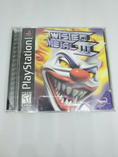 Twisted Metal III 3 Sony PlayStation 1 PS1 1998 Complete