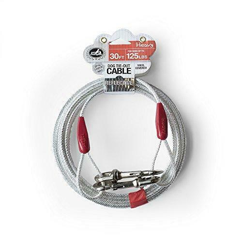 25ft Heavy Duty Extra Large Dog Out Cable Pet Tie Steel Reflective Leashes Run $18.29
