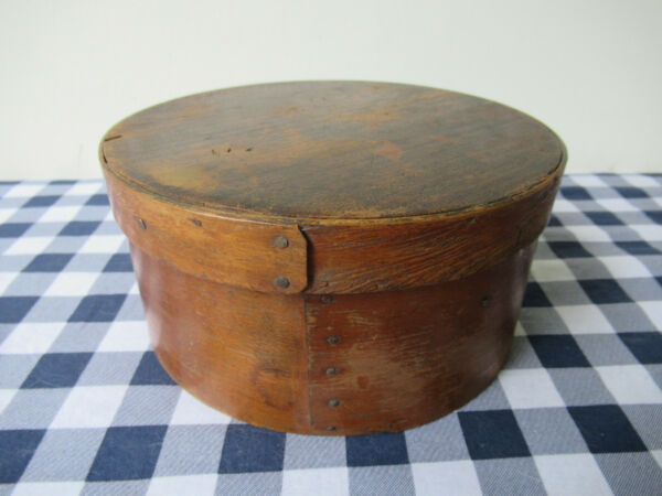Antique Pantry Box Medium Size 8quot; x 4#x27;#x27; Pine Oak Wood Vtg Primitive Untouched