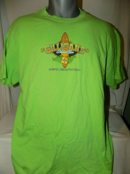 Gilligan#x27;s Island Bar Siesta Key Florida Shirt L Large Dive Tiki $17.27