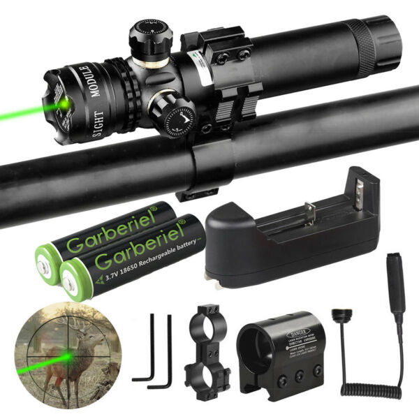 18650 For Rifle Remote Switch 2 Mount Tactical Green Laser Dot Scope Sight Hunt $22.98
