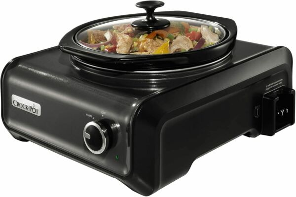 Crock Pot SCCPMD2 CH Hook Up Connectable Entertaining System Round 2 quart