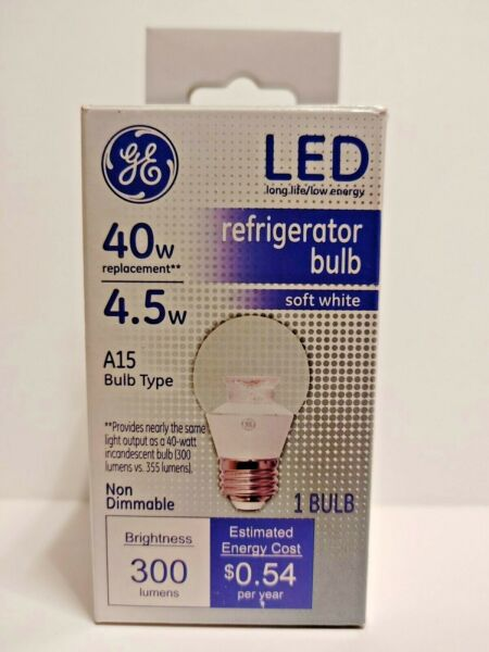 General Electric 40W LED Light Bulb Soft White A15 Shape $10.25