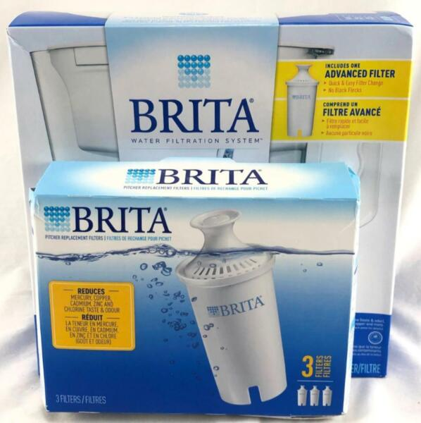 Brita Slim Pitcher 5 cup with 4 Filter Bundled Pack BRAND NEW