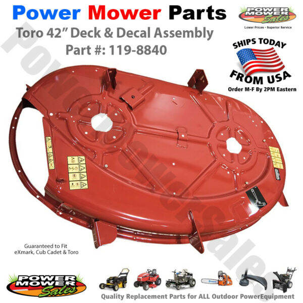 119 8840 eXmark 42 Inch Deck amp; Decal Assembly for Toro Lawn Mowers amp; Tractors