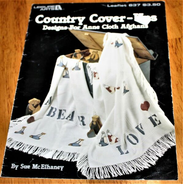 Leisure Arts: COUNTRY COVER UPS for ANNE CLOTH AFGHANS BOOK #638 McElhaney Guc $2.89