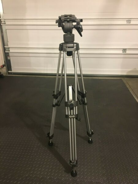 Ravelli AVTP Professional 65mm Video Camera Tripod with Fluid Drag Head