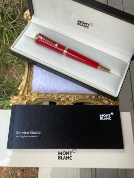 Ballpoint Pen MONTBLANC Muses Marilyn Monroe Special Edition Resin Red