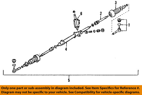 SUBARU OEM 05 09 Outback Rack And Pinion Complete Unit 34110AG05A $909.58