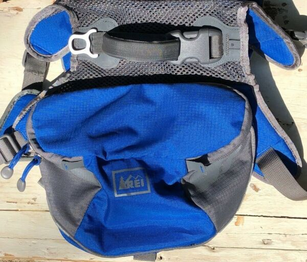 REI Dog Hiking Pack Backpack Carrier Bag Gray Blue Small Excellent Condition $24.99