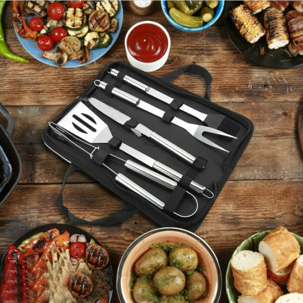 5PCS BBQ Grill Accessories Kit with Bag for Grilling amp; Barbecue Cooking