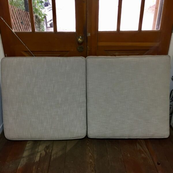 Lot of2 Restoration Hardware Outdoor Replacement Cushions 5.5quot; x 30.75quot; x 31.25quot; $250.00