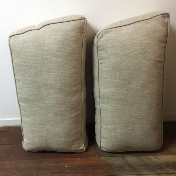 Lot of 2 Restoration Hardware Outdoor Replacement Cushions 5.5quot; x 28.5quot; x 14quot; $200.00