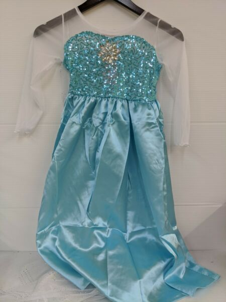 Kids Girls Princess Elsa Frozen Costume Dress. Size 6 7 Years. $9.99