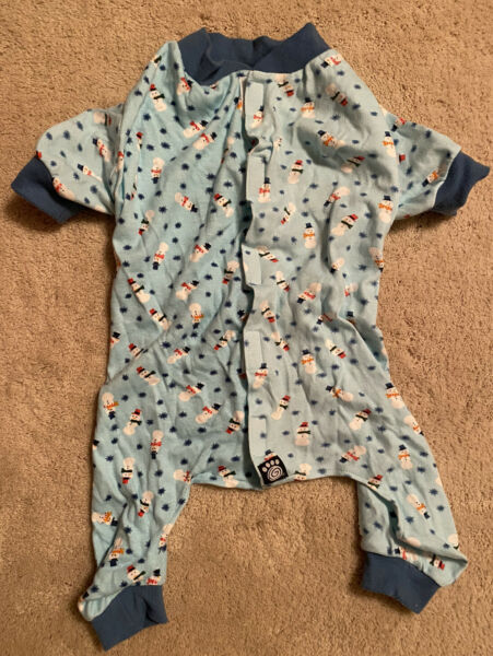 Snowman Pajamas for Dog Size S $3.50