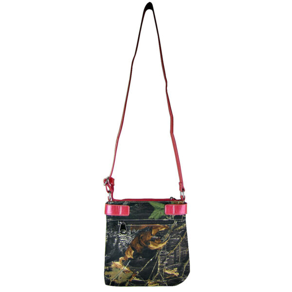 HOT PINK MOSSY CAMO BUCKLE MESSENGER WESTERN BLING SATCHEL CROSS BODY WESTERN