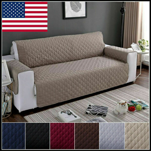 Reversible Sofa Couch Cover Pad Chair Throw Pet Dog Kids Mat Furniture Protector $25.99