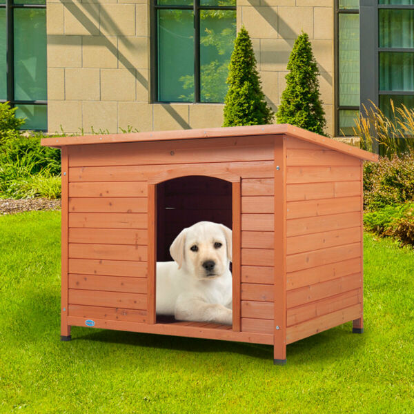 33quot; Wood Waterproof Slant Roofed Small Dog House Pet Cage Kennel Cabin Outdoor $69.99