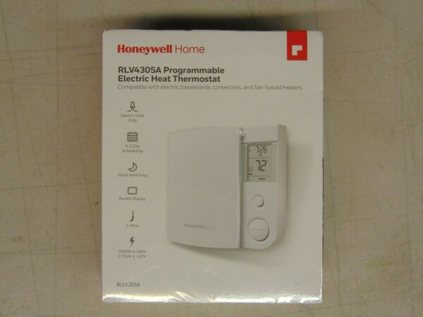 Honeywell 5 2 Day Programmable ELEC Heat Thermostat RLV4305A1000 $38.00
