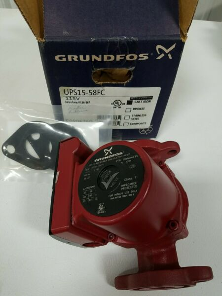 Grundfos 59896769 Boiler Pump Ups15 58 fc 115v With Gaskets New $125.00