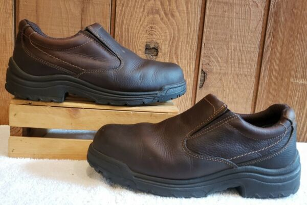 Timberland Pro Titan Safety Steel Toe Work Shoes Leather 53534 Men Sz 11.5 W $70.00