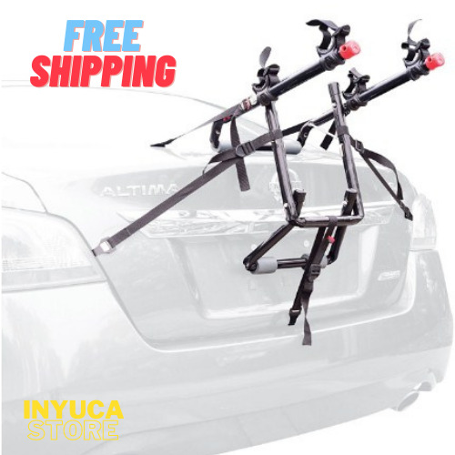 Bike Rack For Car Sedan SUV Minivan Hatchback Trunk Mounted Hold 2 Adult Bikes $63.55