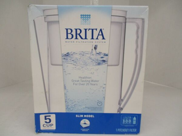 BRITA SLIM WATER FILTRATION SYSTEM 5 CUP CAPACITY WHITE KW 1473