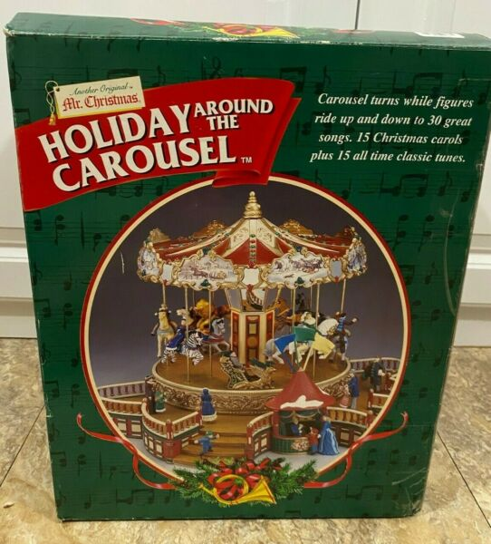 Mr. Christmas Holiday Around The Carousel 1999 Vintage Plays 30 Songs Carols