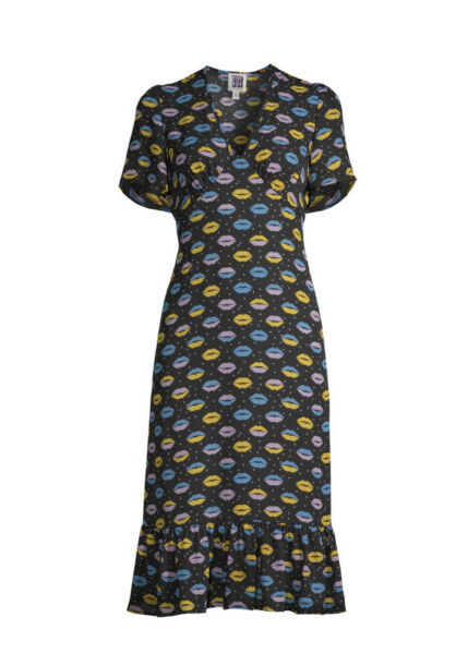 Sui by Anna Sui Women#x27;s Love and Kisses Print Dress small $19.99